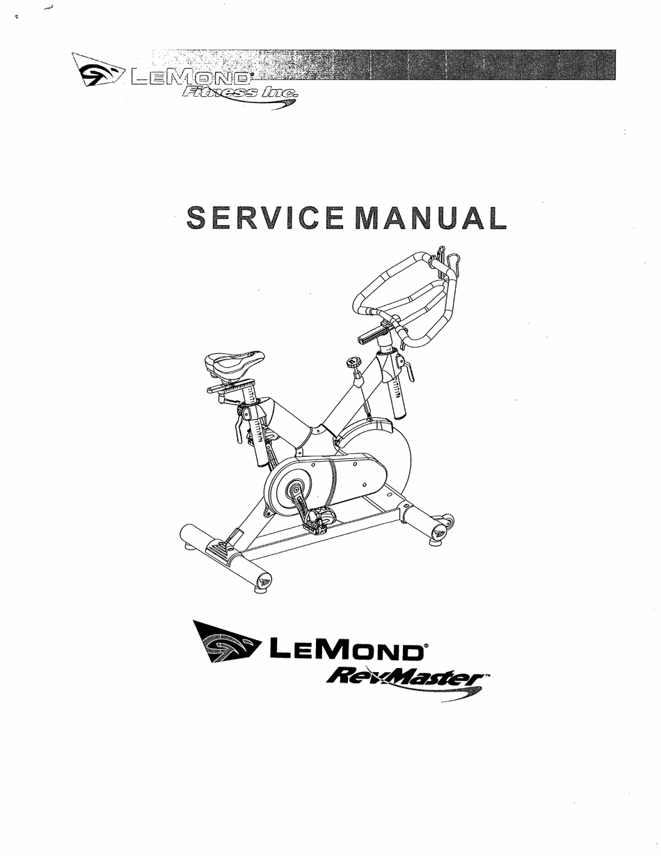 LEMOND FITNESS REVMASTER SERVICE MANUAL Pdf Download