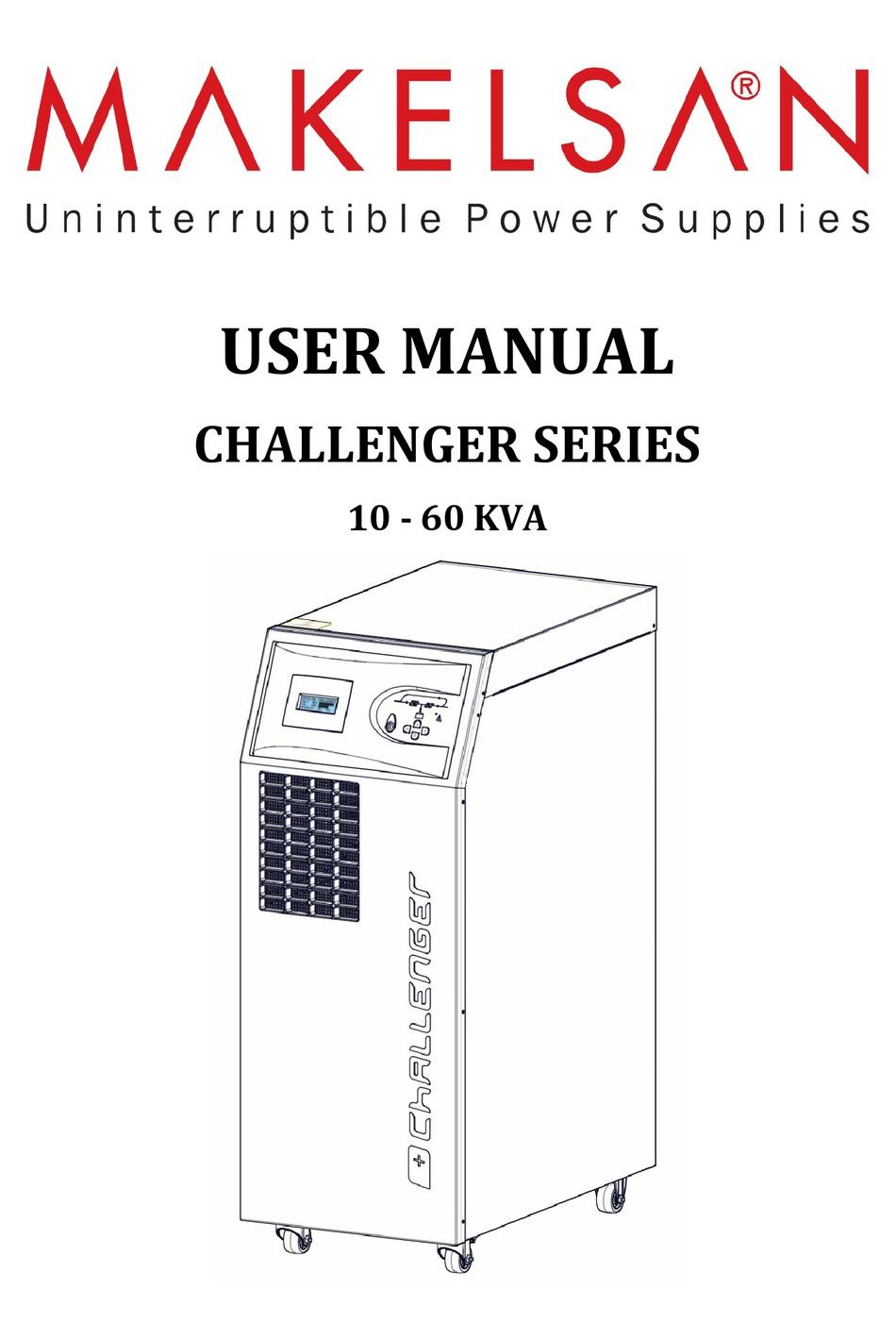 MAKELSAN CHALLENGER SERIES USER MANUAL Pdf Download