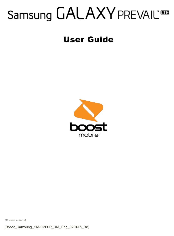 SAMSUNG GALAXY PREVAIL LTE USER MANUAL Pdf Download