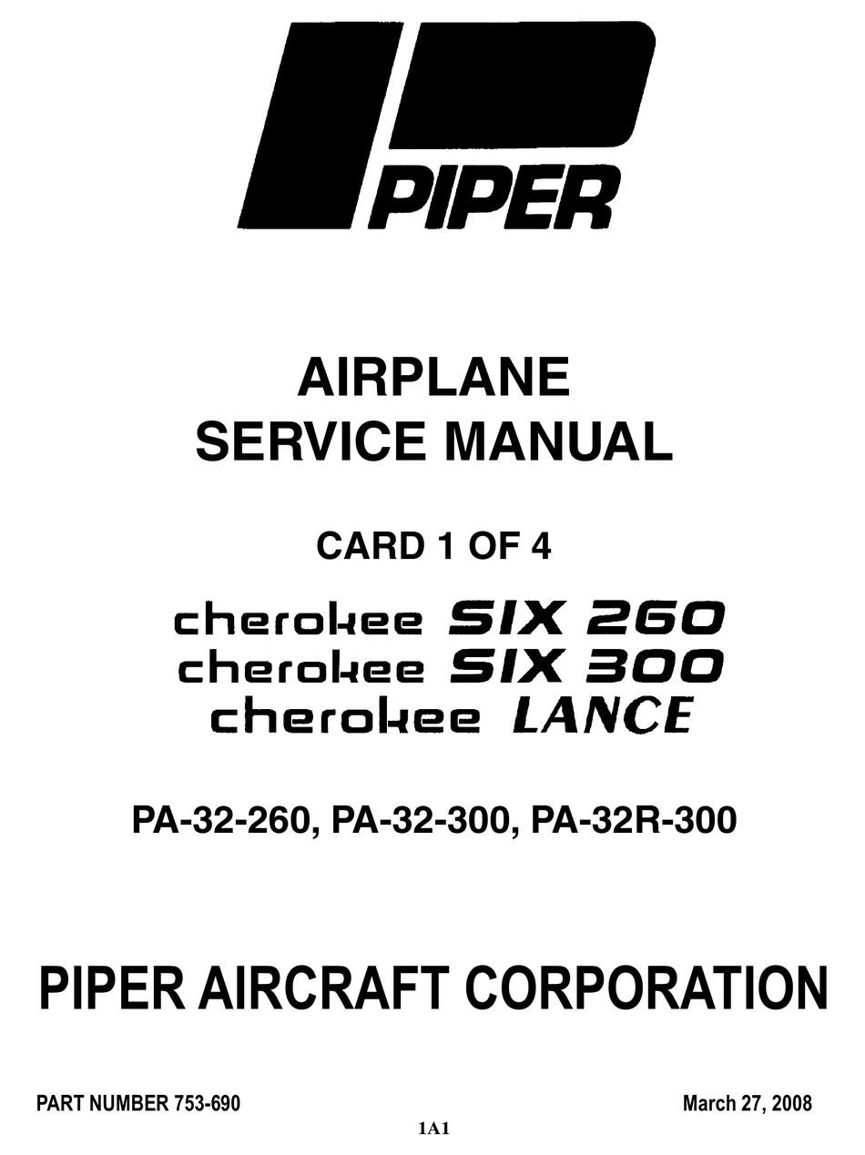PIPER CHEROKEE SIX 300 SERVICE MANUAL Pdf Download