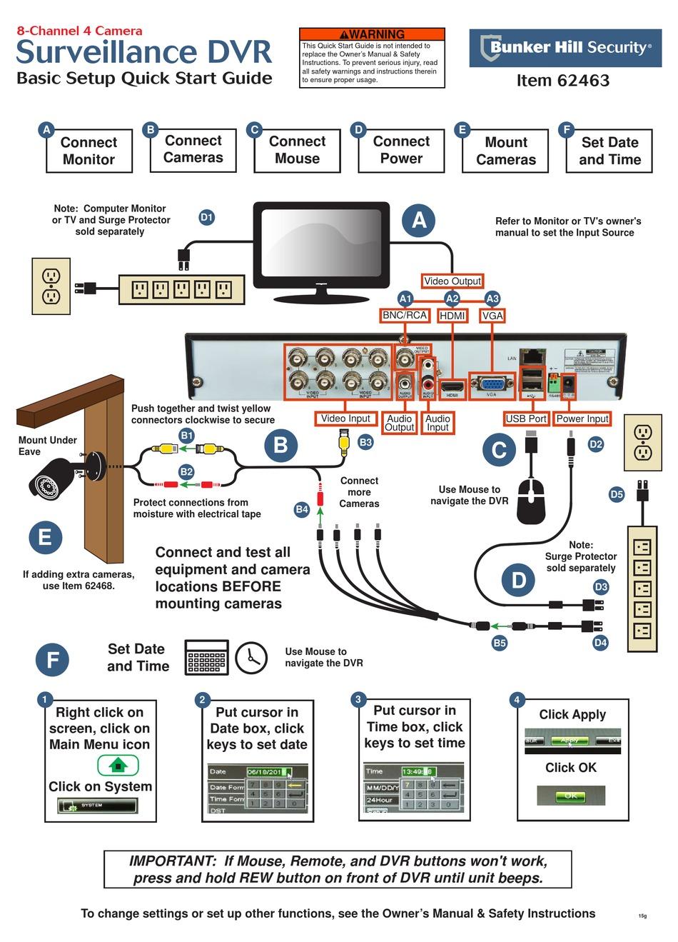 Bunker Hill Security Mobile Setup : bunker, security, mobile, setup, BUNKER, SECURITY, 62463, QUICK, START, MANUAL, Download, ManualsLib