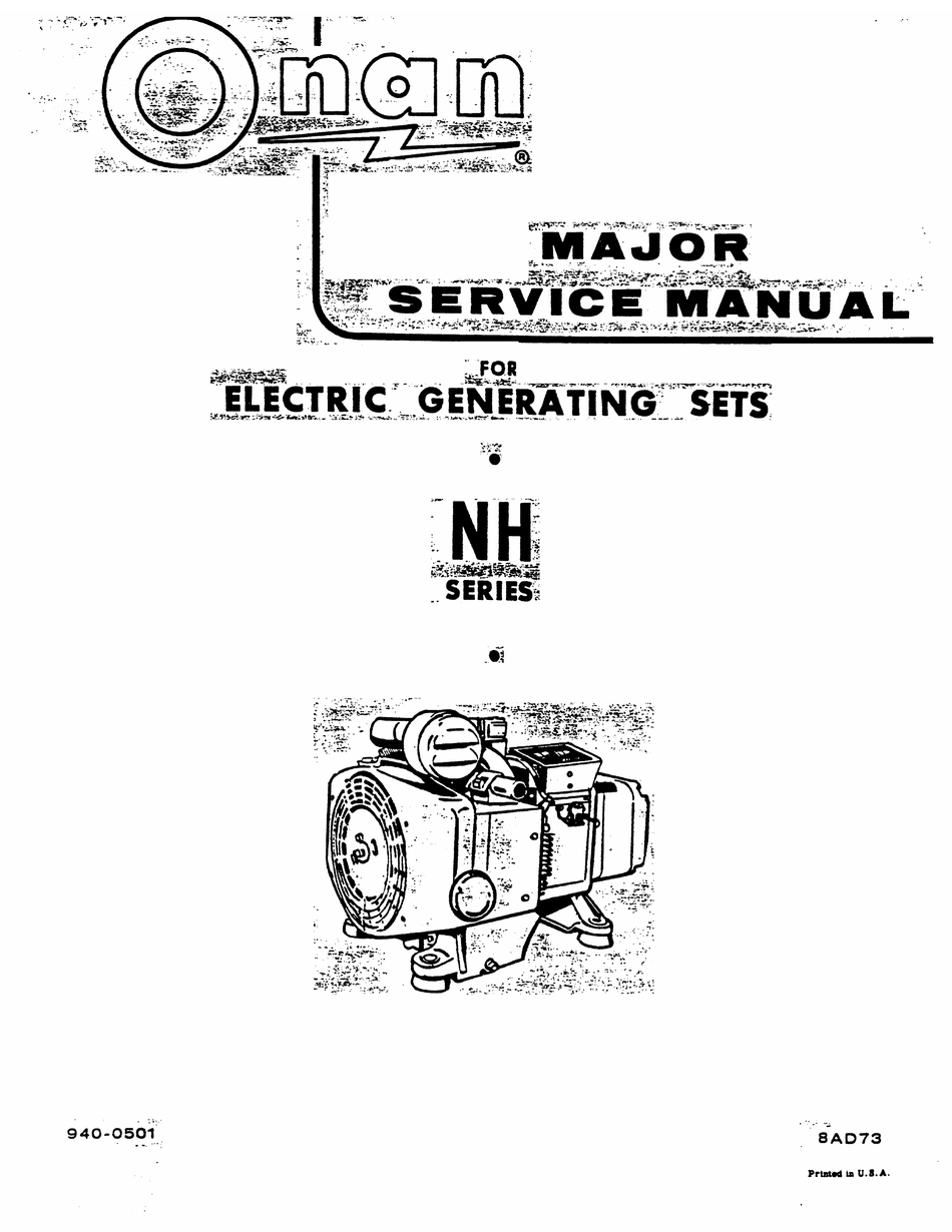 Onan 4Kyfa26100K Parts Manual : Onan Generator Not