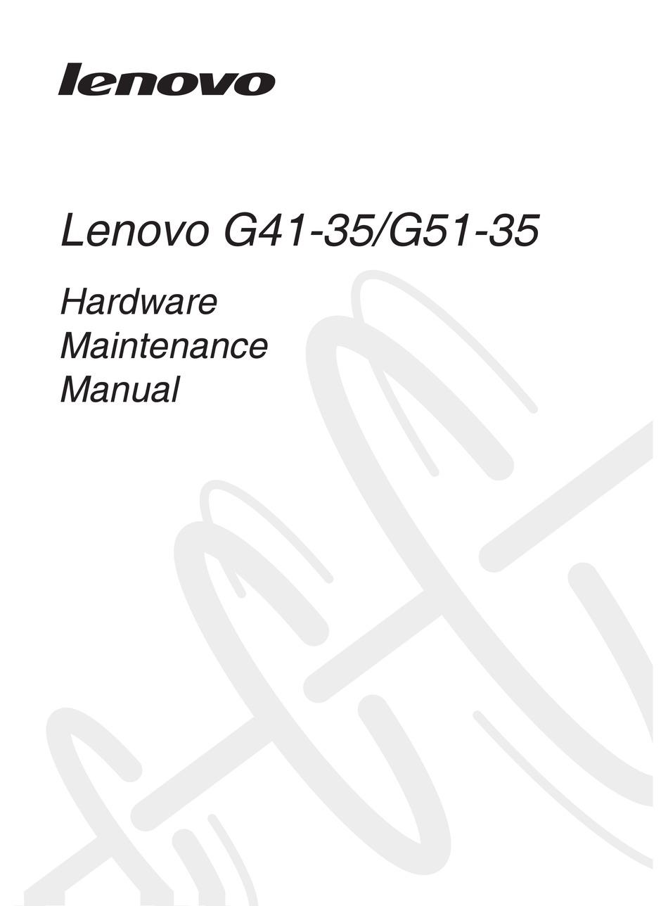 LENOVO G41-35 HARDWARE MAINTENANCE MANUAL Pdf Download