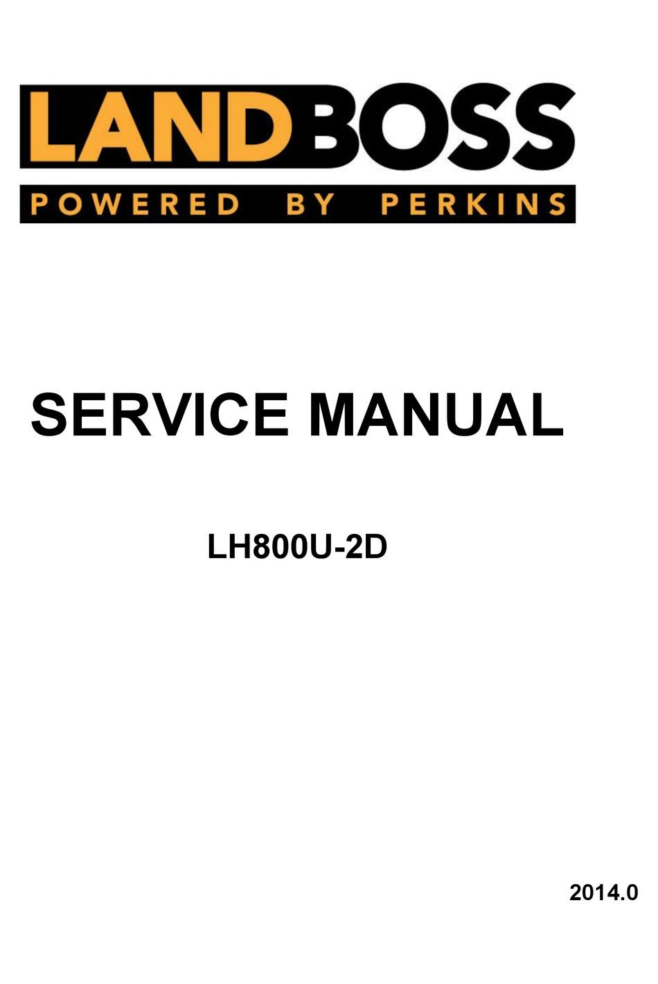 LINHAI LANDBOSS LH800U-2D SERVICE MANUAL Pdf Download