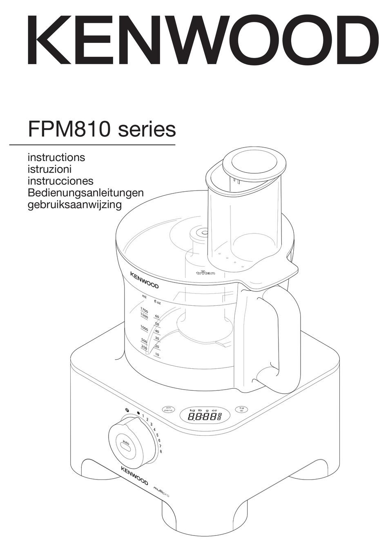 KENWOOD FPM810 SERIES INSTRUCTION MANUAL Pdf Download