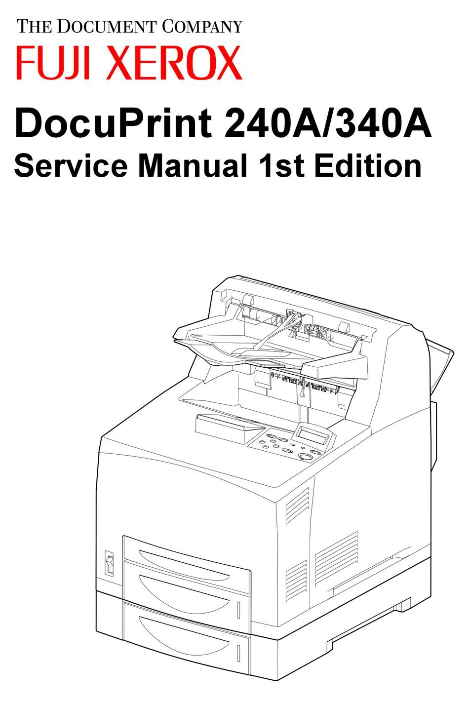 FUJI XEROX DOCUPRINT 240A SERVICE MANUAL Pdf Download