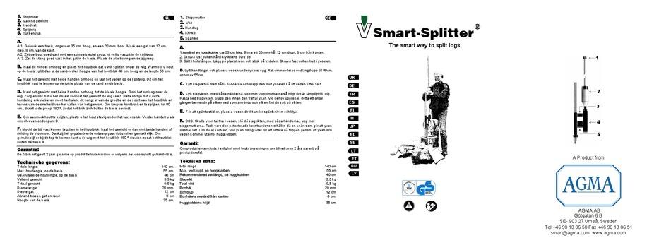 AGMA SMART-SPLITTER INSTRUCTION MANUAL Pdf Download