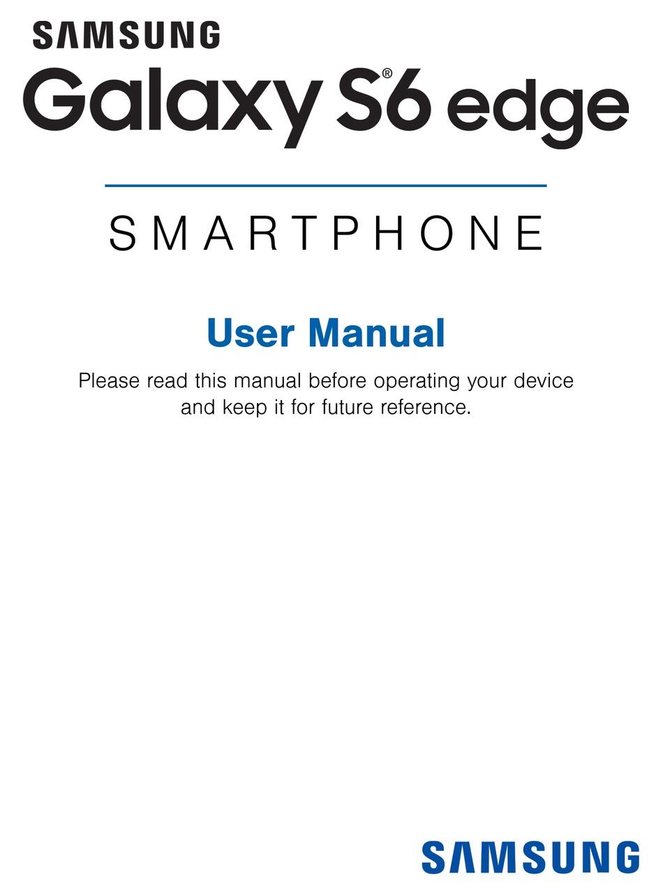 SAMSUNG GALAXY S6 EDGE SM-G925T USER MANUAL Pdf Download