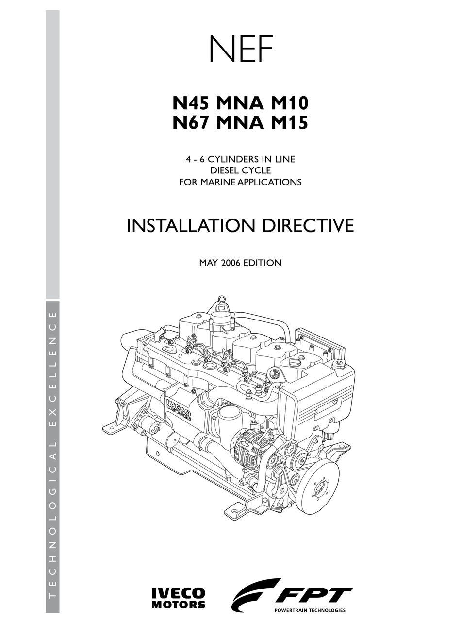 IVECO N45 MNA M10 INSTALLATION DIRECTIVE MANUAL Pdf