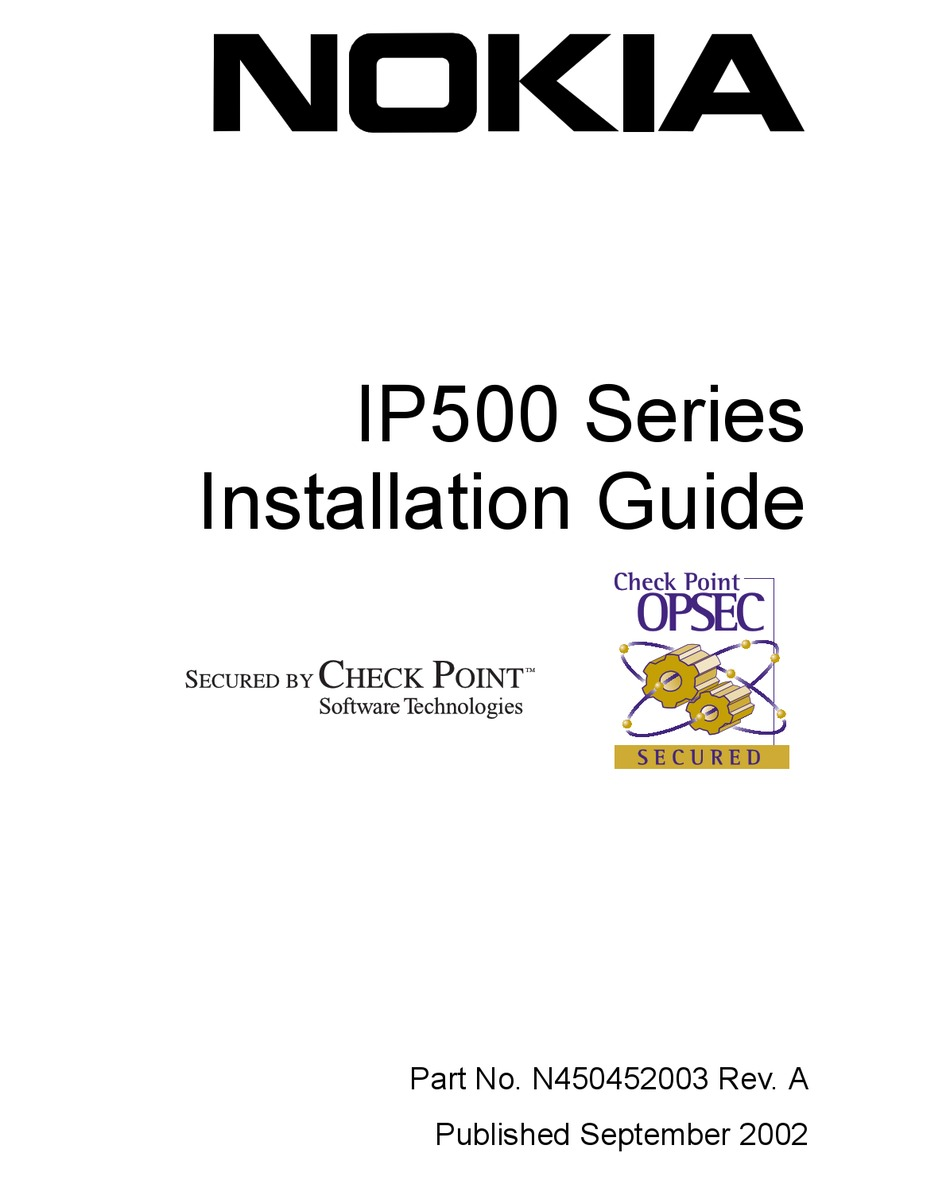 NOKIA IP500 SERIES INSTALLATION MANUAL Pdf Download