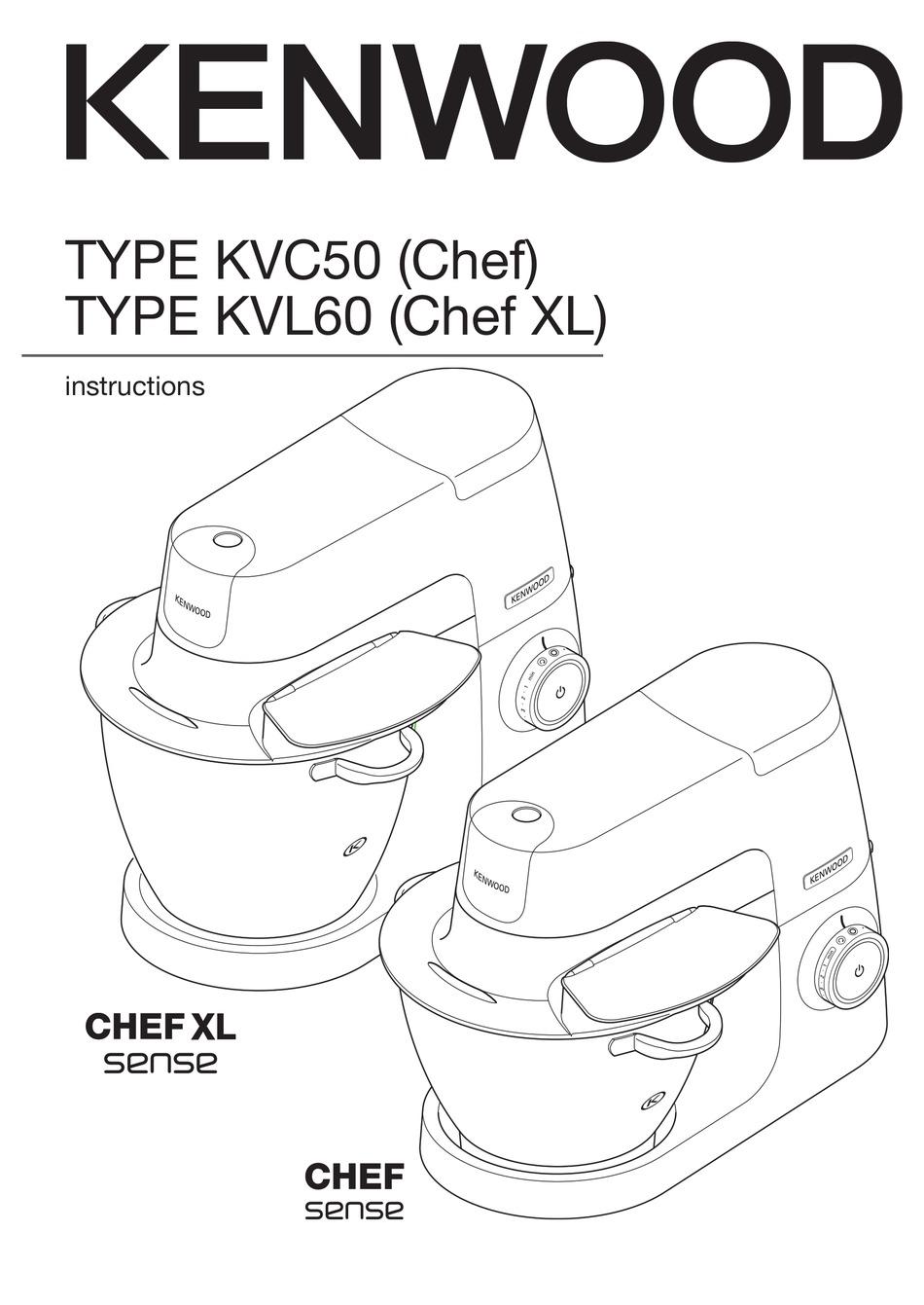 KENWOOD CHEF SENSE KVC50 INSTRUCTIONS MANUAL Pdf Download