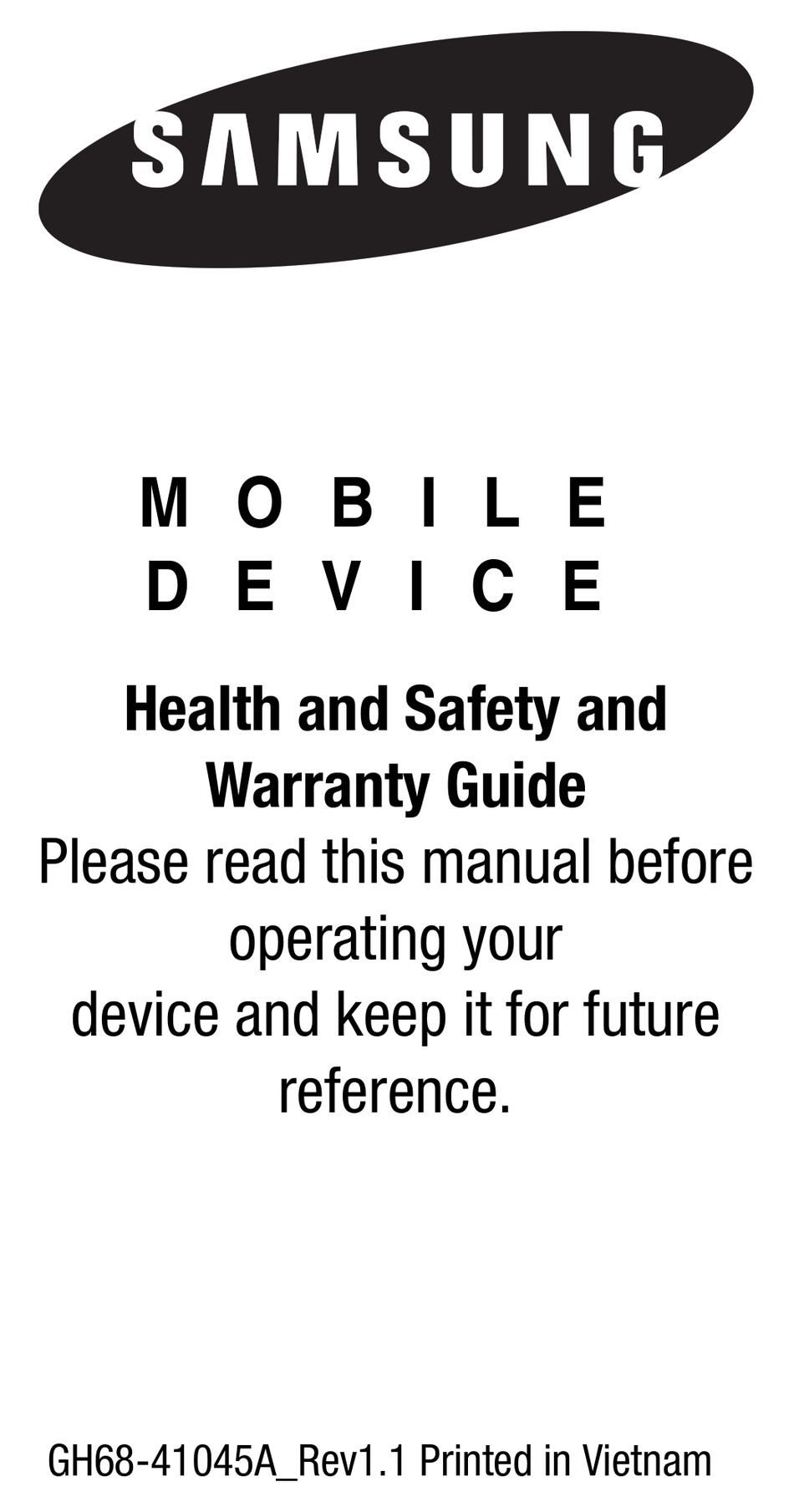 SAMSUNG SM-R350 HEALTH AND SAFETY AND WARRANTY MANUAL Pdf