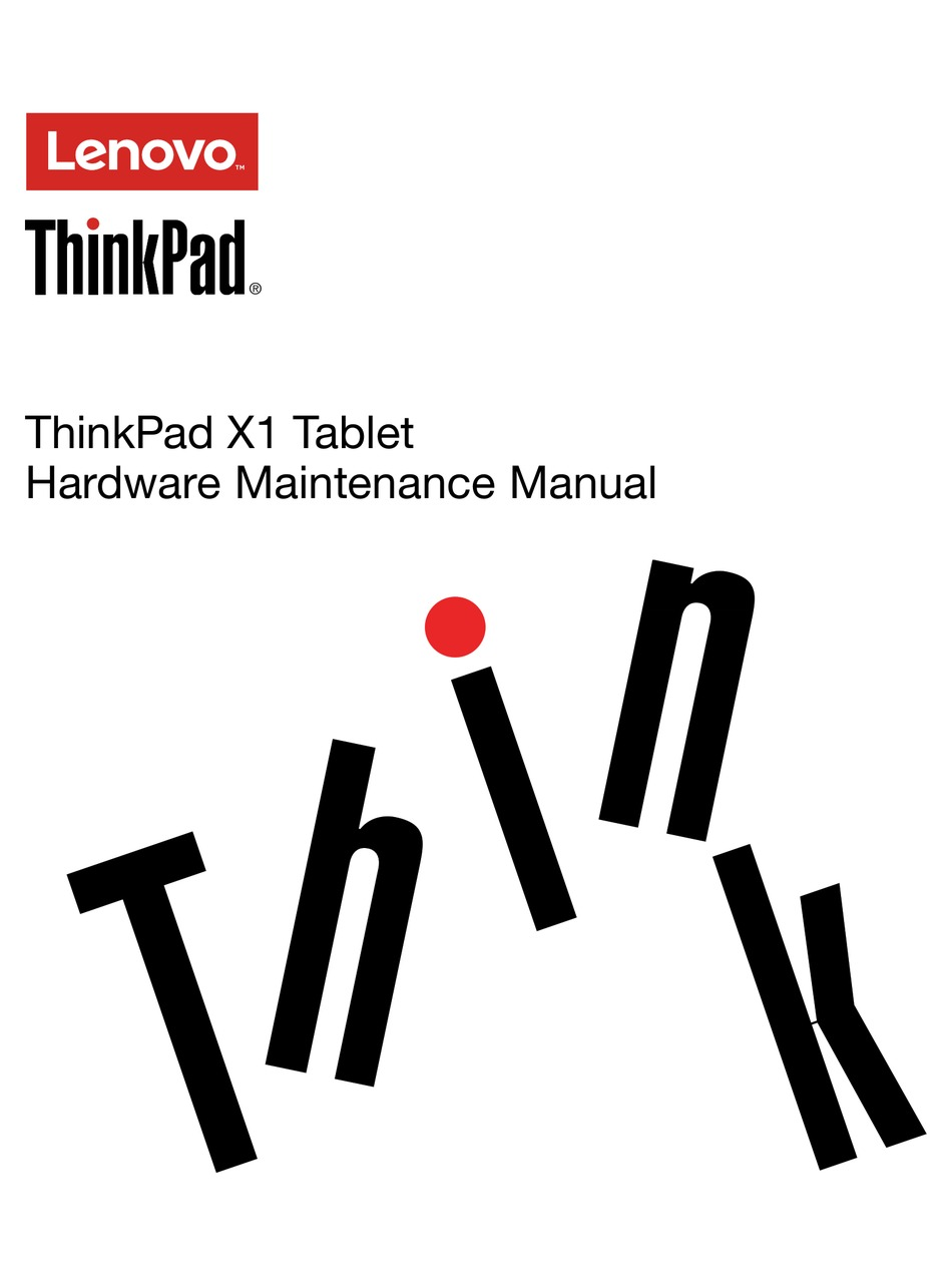 LENOVO THINKPAD X1 HARDWARE MAINTENANCE MANUAL Pdf