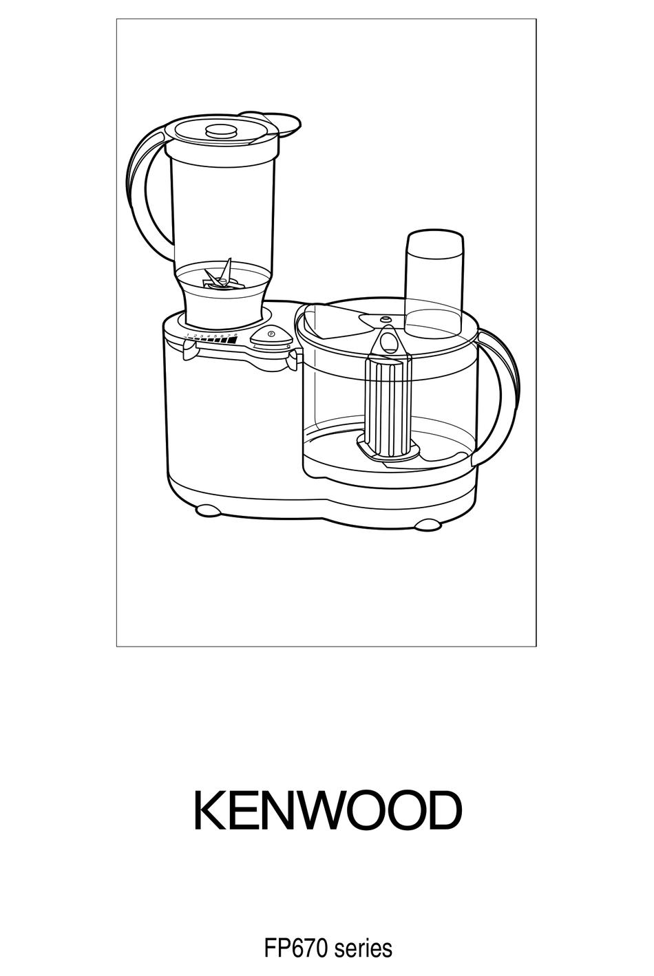 KENWOOD FP670 SERIES INSTRUCTIONS MANUAL Pdf Download