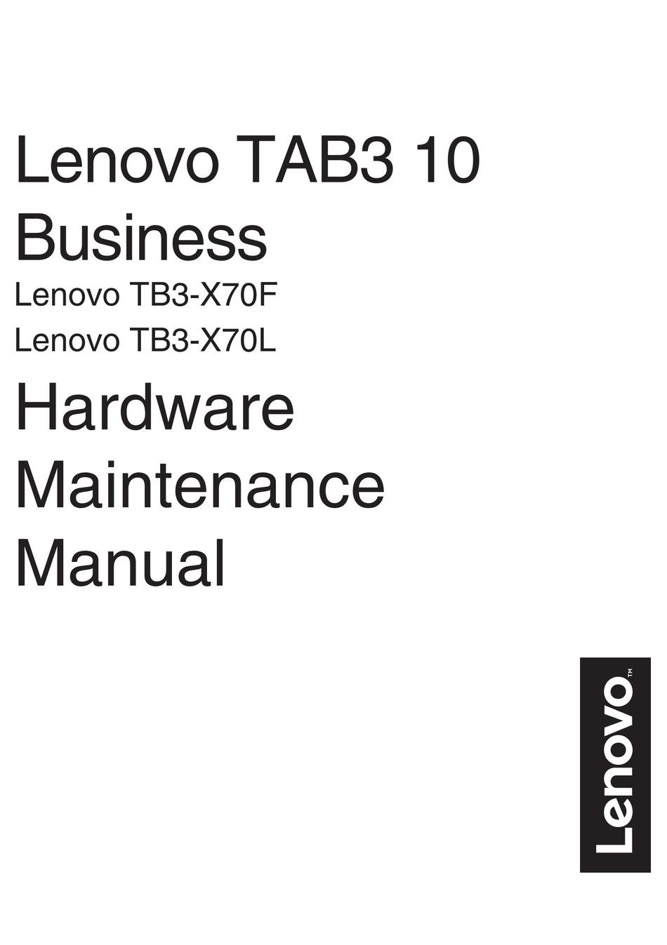 LENOVO TB3-X70F HARDWARE MAINTENANCE MANUAL Pdf Download