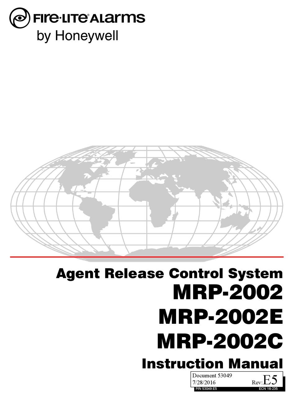 HONEYWELL MRP-2002 INSTRUCTION MANUAL Pdf Download