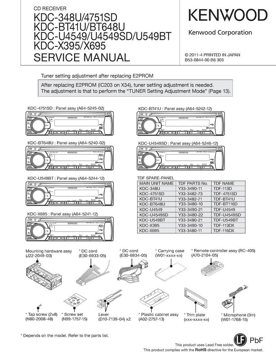 Kenwood Kdc X395 : kenwood, KENWOOD, KDC-348U, SERVICE, MANUAL, Download, ManualsLib