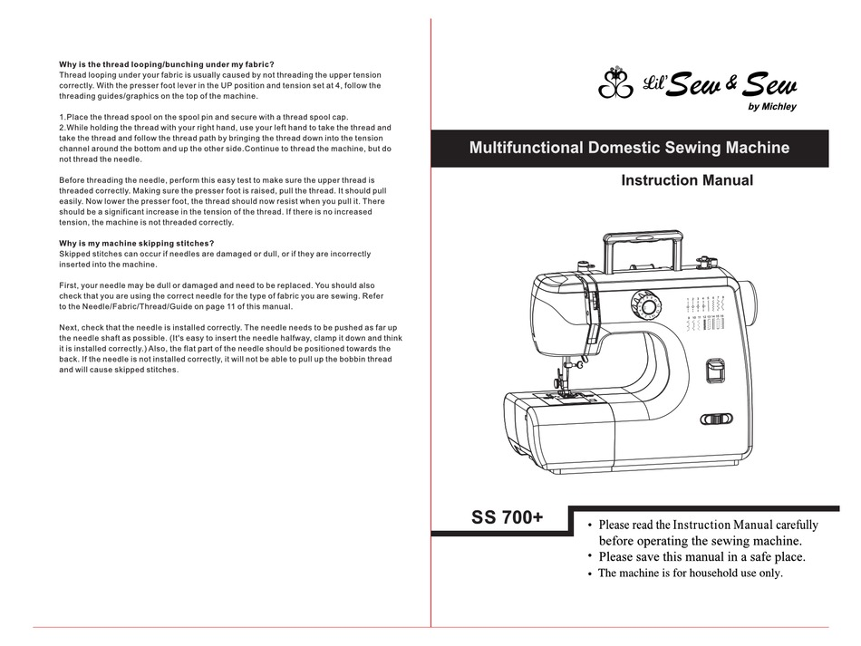 MICHLEY SS 700 SERIES INSTRUCTION MANUAL Pdf Download