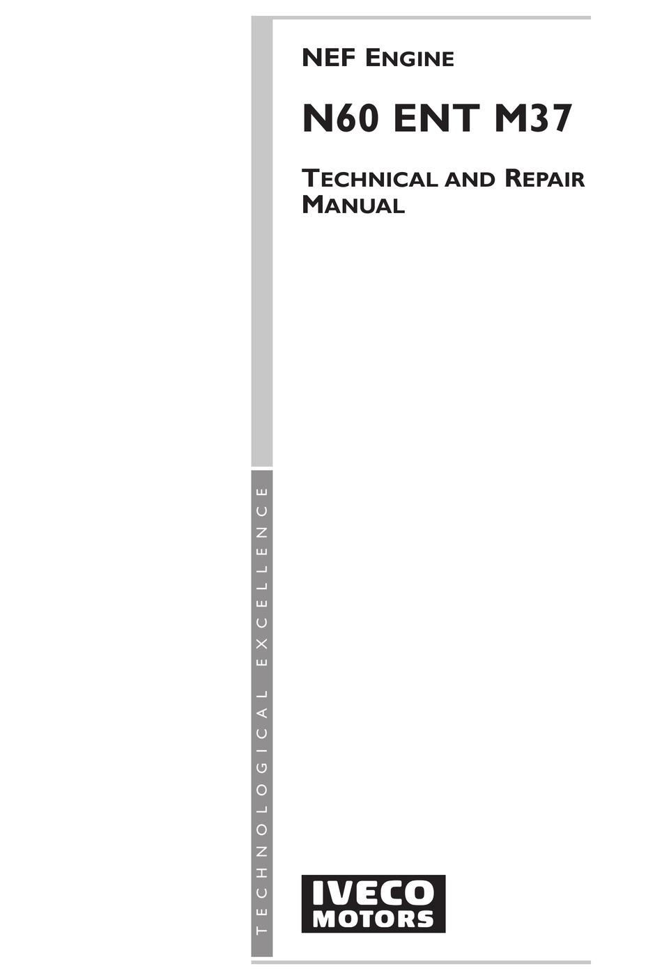 IVECO N60 ENT M37 TECHNICAL AND REPAIR MANUAL Pdf Download