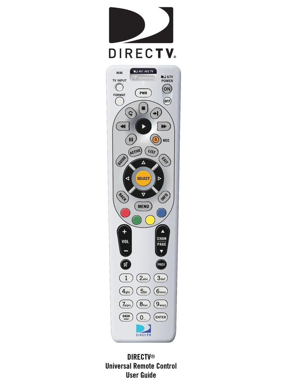 Samsung Directv Remote Code : samsung, directv, remote, DIRECT, RC65RX, MANUAL, Download, ManualsLib