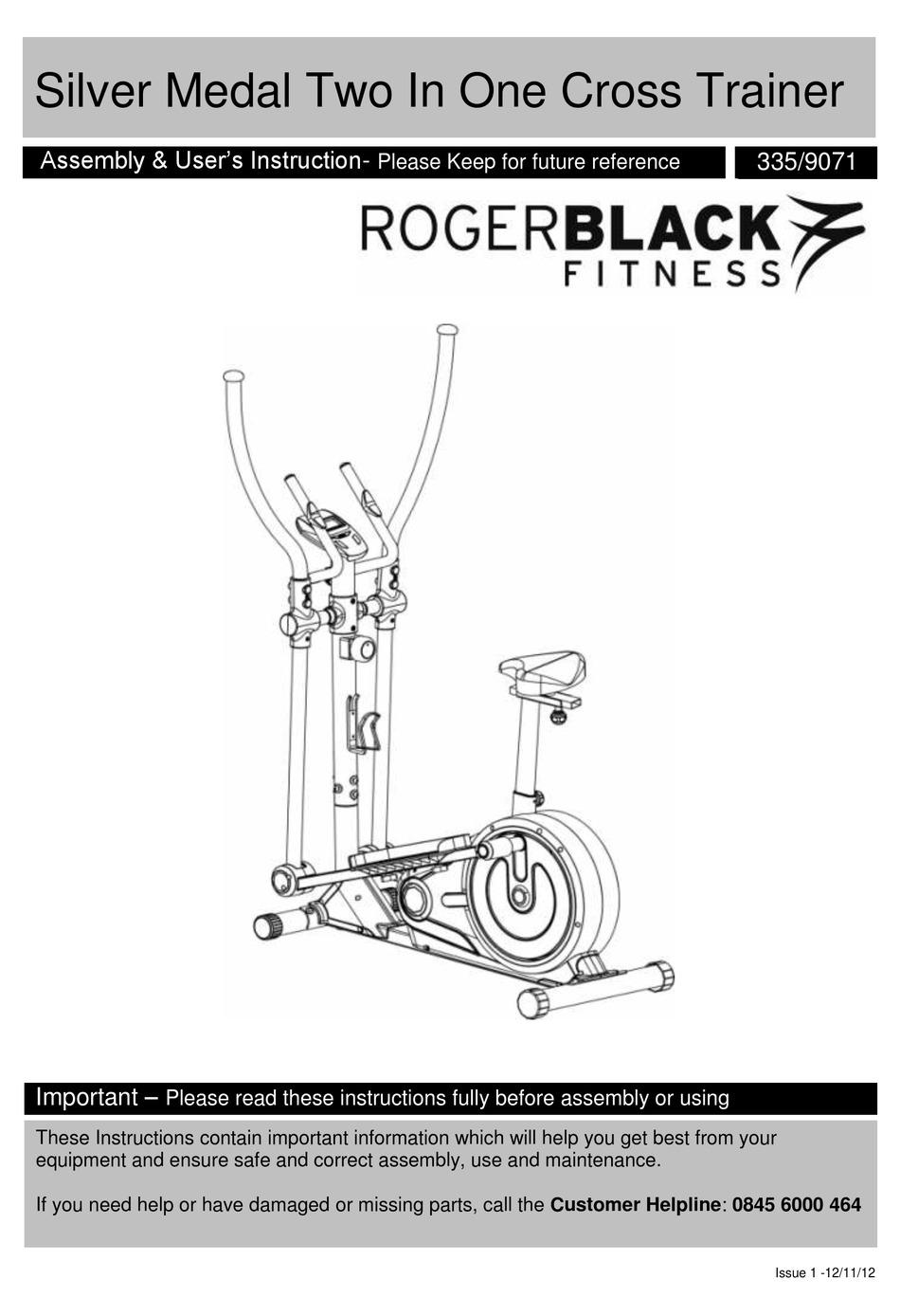 Roger Black Gold Exercise Bike Instruction Manual