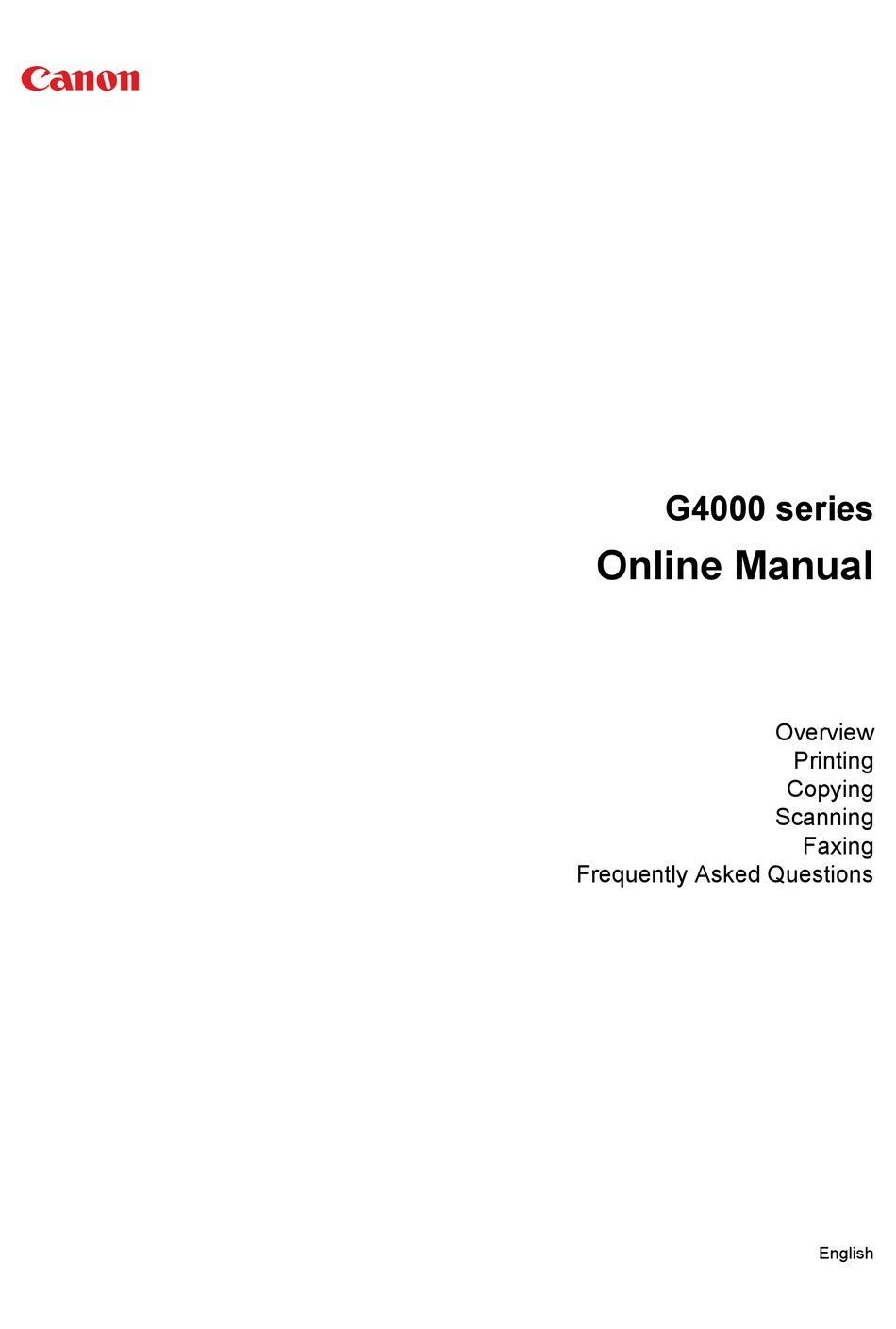 Driver Canon G2000 Offline : driver, canon, g2000, offline, CANON, G4000, SERIES, ONLINE, MANUAL, Download, ManualsLib