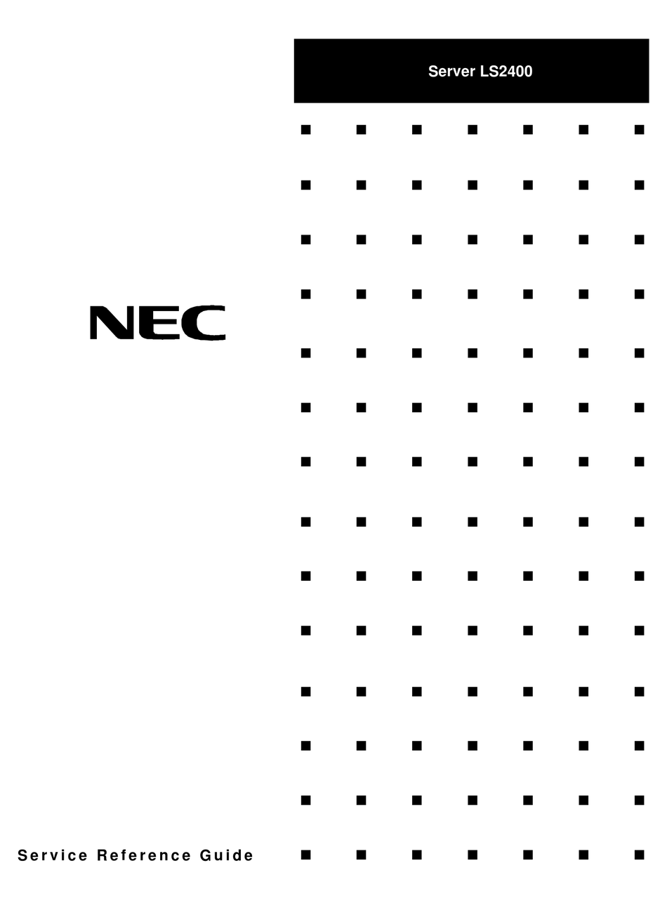 NEC LS2400 SERVICE & REFERENCE MANUAL Pdf Download