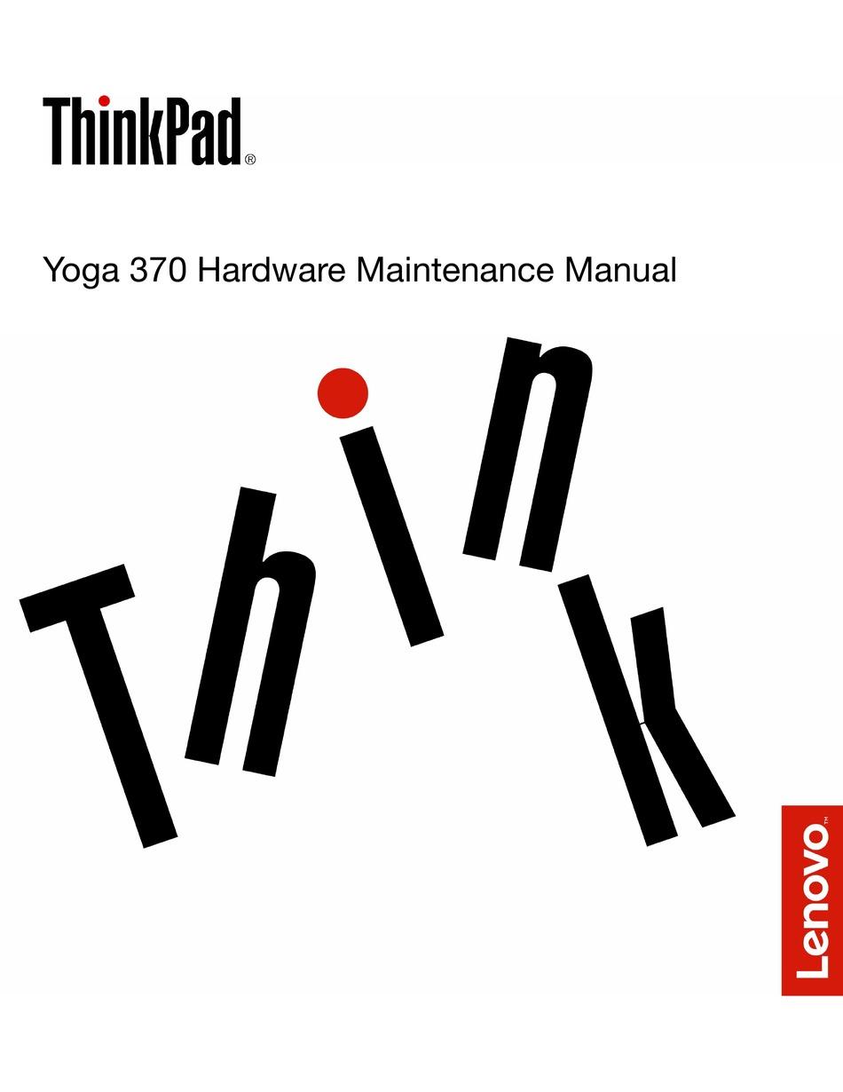 LENOVO YOGA 370 HARDWARE MAINTENANCE MANUAL Pdf Download