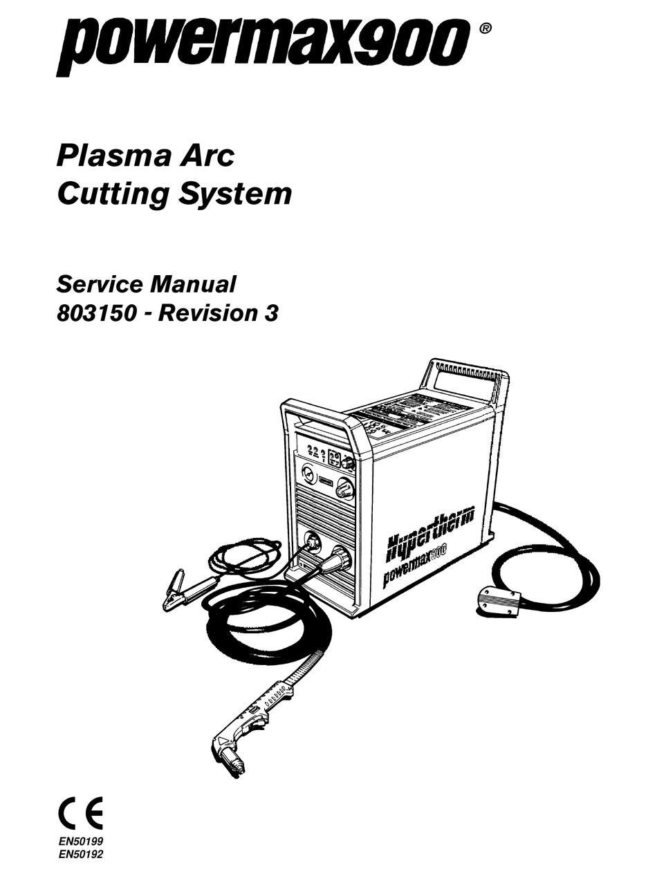 HYPERTHERM POWERMAX900 SERVICE MANUAL Pdf Download