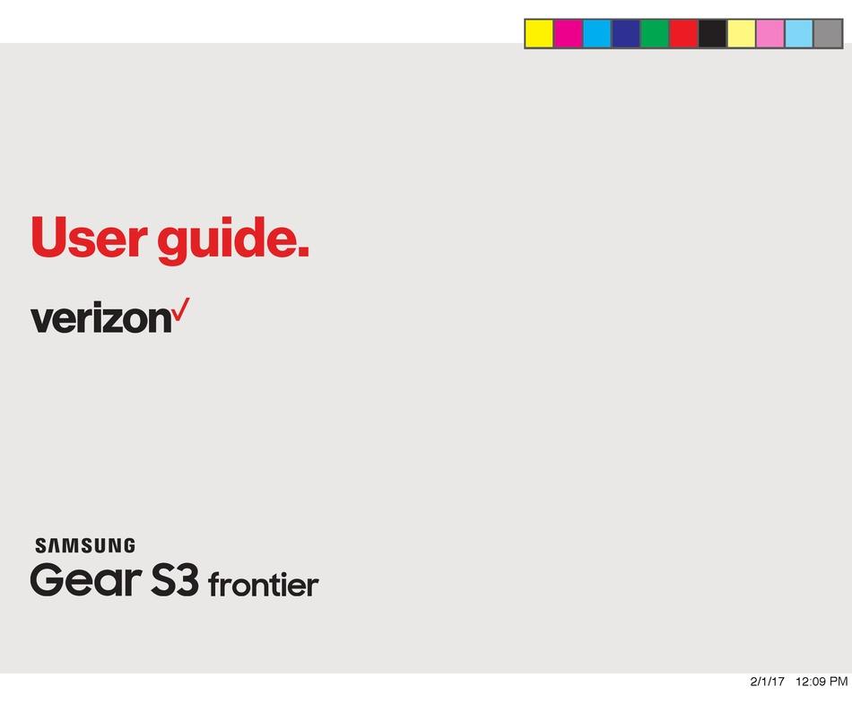 SAMSUNG VERIZON GEAR S3 FRONTIER USER MANUAL Pdf Download