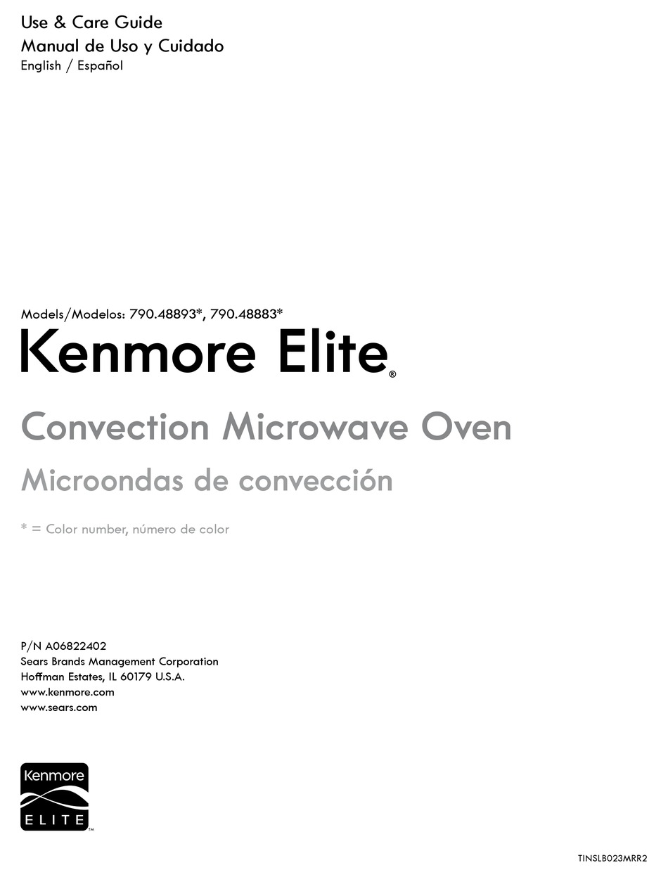 kenmore 790 48893 series use care