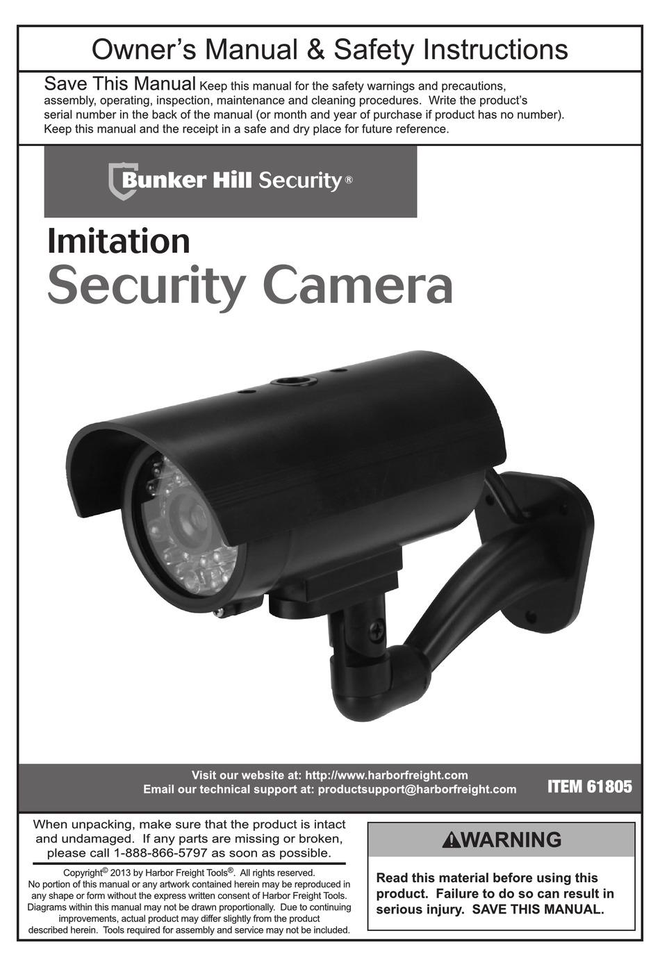 Bunker Hill Security Camera 62367 : bunker, security, camera, 62367, BUNKER, SECURITY, 61805, OWNER'S, MANUAL, SAFETY, INSTRUCTIONS, Download, ManualsLib
