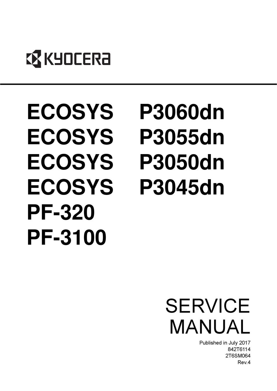 KYOCERA ECOSYS P3060DN SERVICE MANUAL Pdf Download
