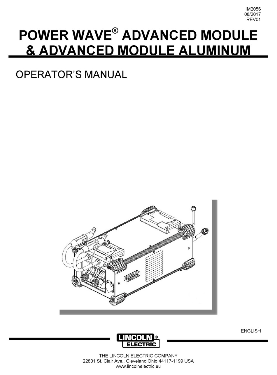 LINCOLN ELECTRIC POWER WAVE S350 OPERATOR'S MANUAL Pdf