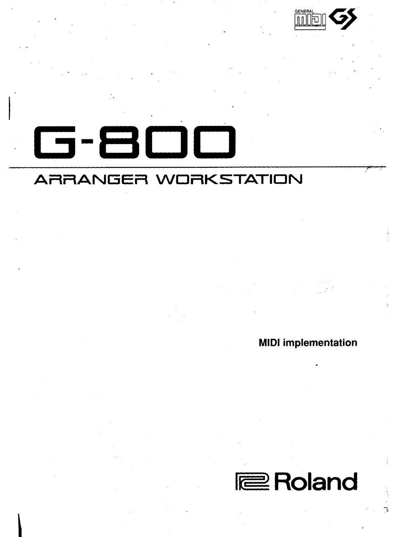 ROLAND G-800 MIDI IMPLEMENTATION MANUAL Pdf Download