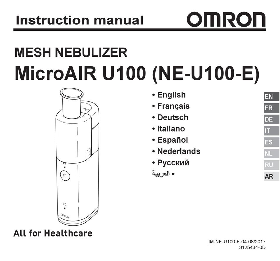 OMRON MICROAIR U100 INSTRUCTION MANUAL Pdf Download