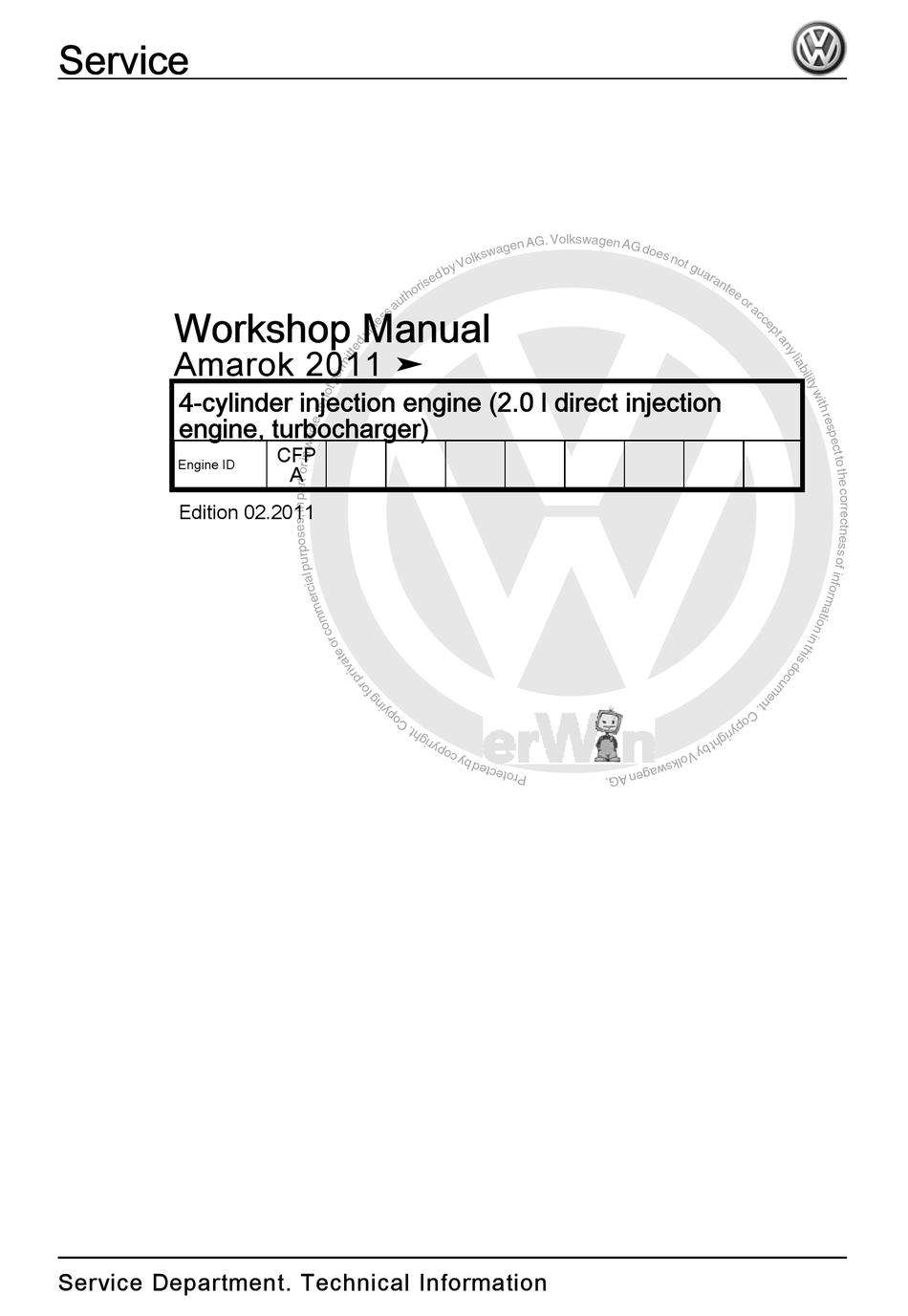 VOLKSWAGEN AMAROK 2011 WORKSHOP MANUAL Pdf Download