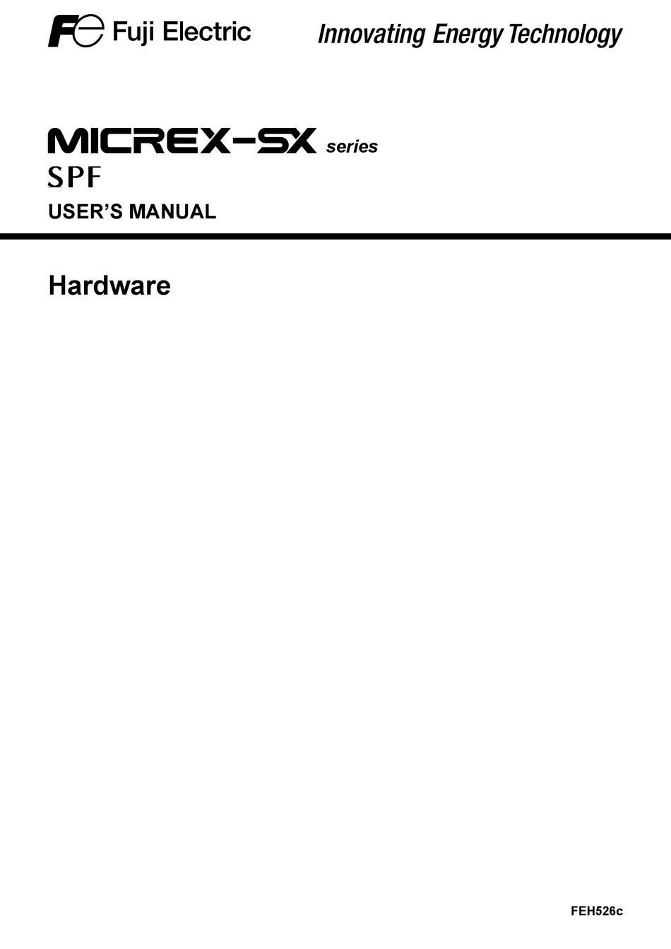 FUJI ELECTRIC MICREX-SX SERIES SPF USER MANUAL Pdf