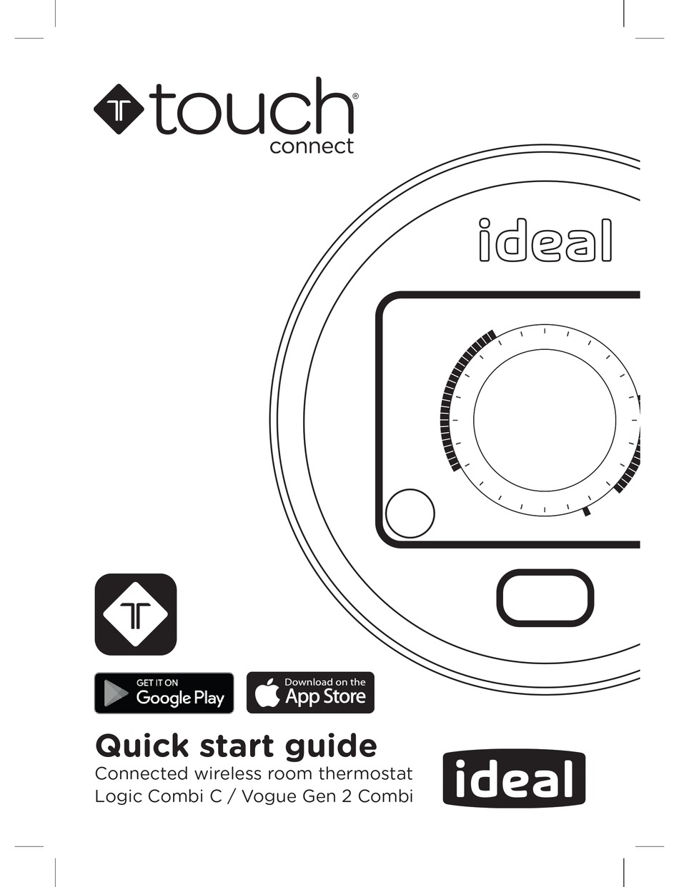 IDEAL BOILERS TOUCH CONNECT QUICK START MANUAL Pdf