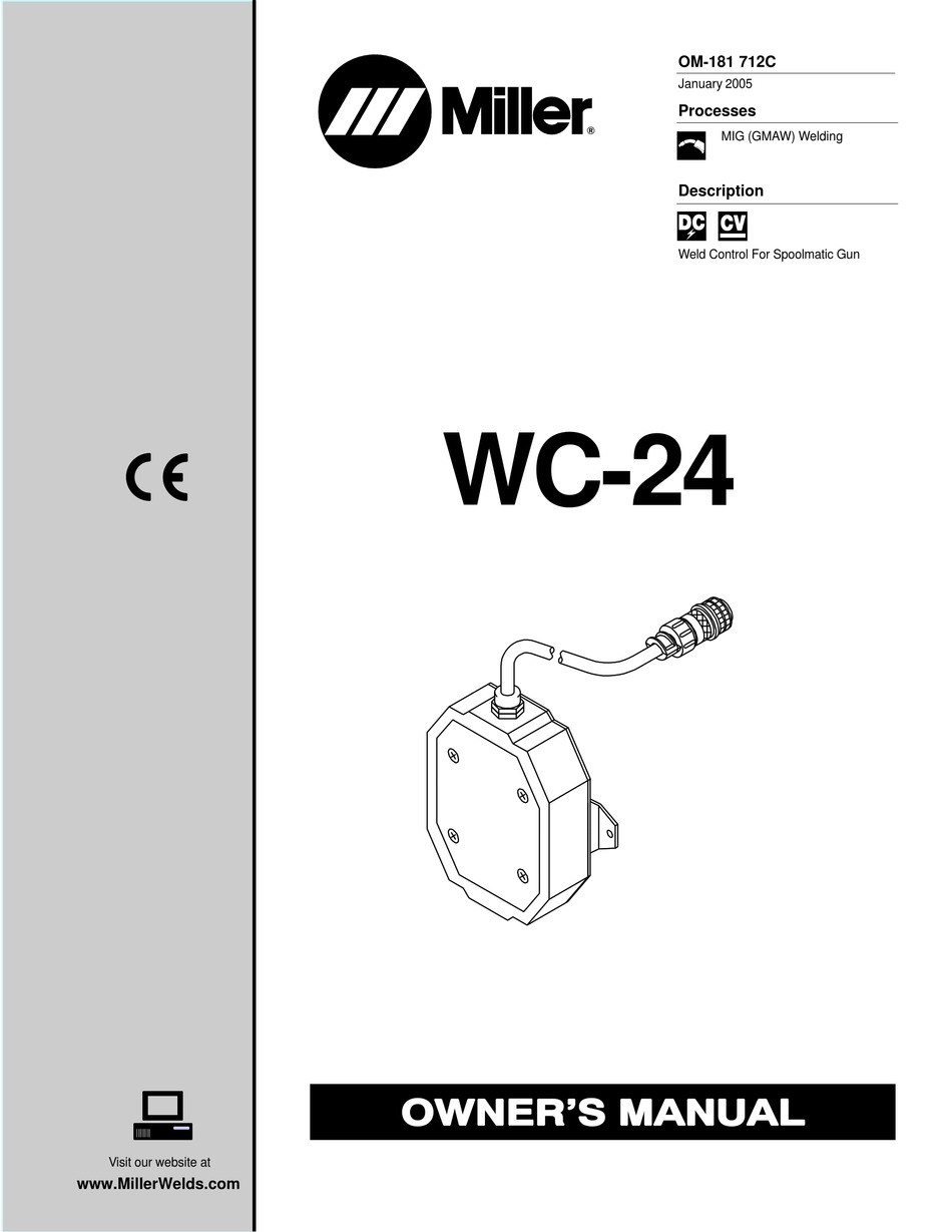 Miller Electric WC-24 User Manuals PDF Download | Guidessimo.com