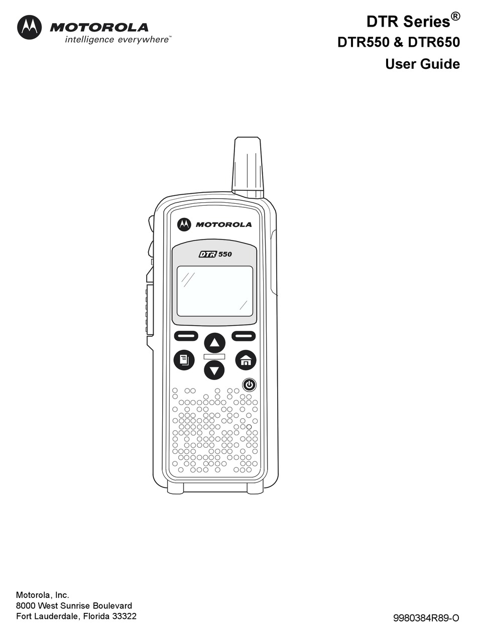 MOTOROLA DTR SERIES DTR550 USER MANUAL Pdf Download