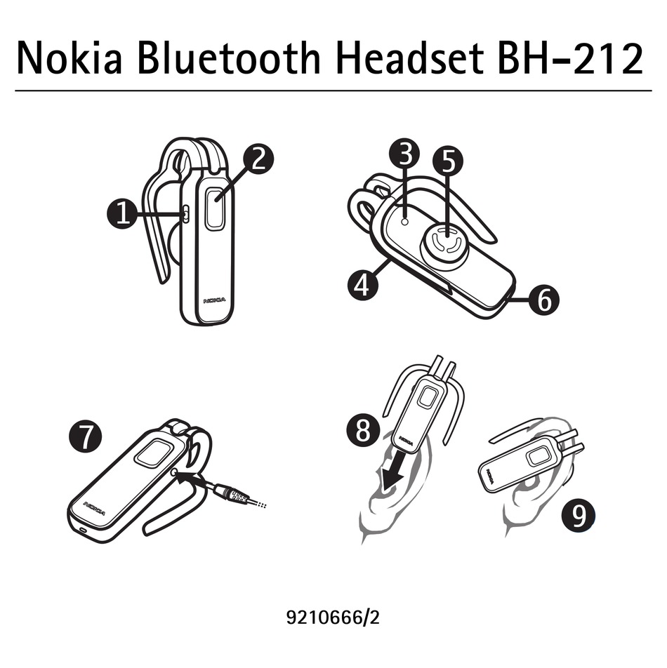 NOKIA BLUETOOTH HEADSET BH-212 USER MANUAL Pdf Download