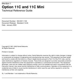 MERIDIAN NORTEL 1 OPTION 11C TECHNICAL REFERENCE MANUAL Pdf Download    ManualsLib [ 1233 x 950 Pixel ]