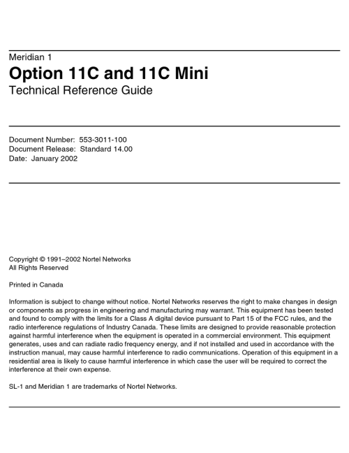 small resolution of MERIDIAN NORTEL 1 OPTION 11C TECHNICAL REFERENCE MANUAL Pdf Download    ManualsLib