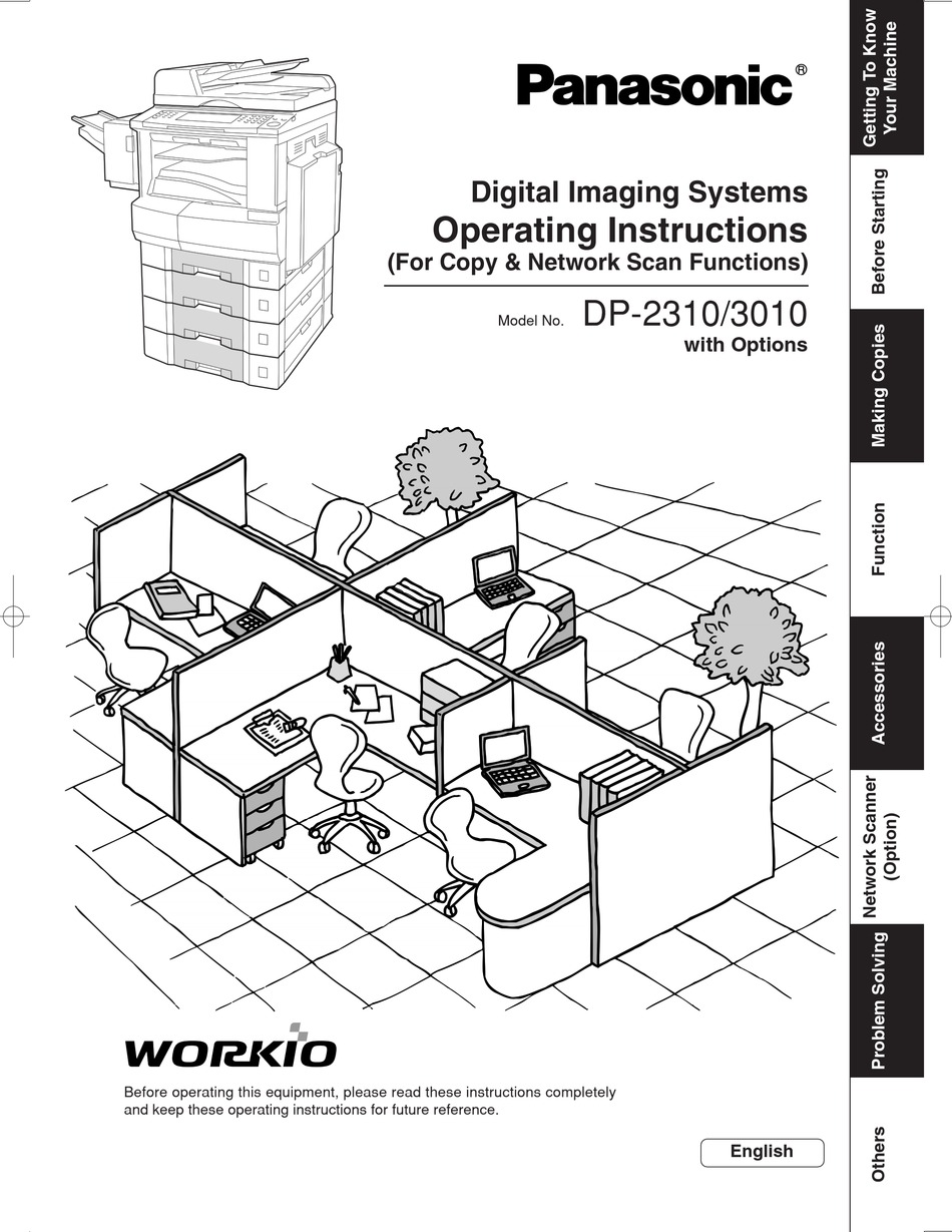 PANASONIC DP-2310 OPERATING INSTRUCTIONS MANUAL Pdf