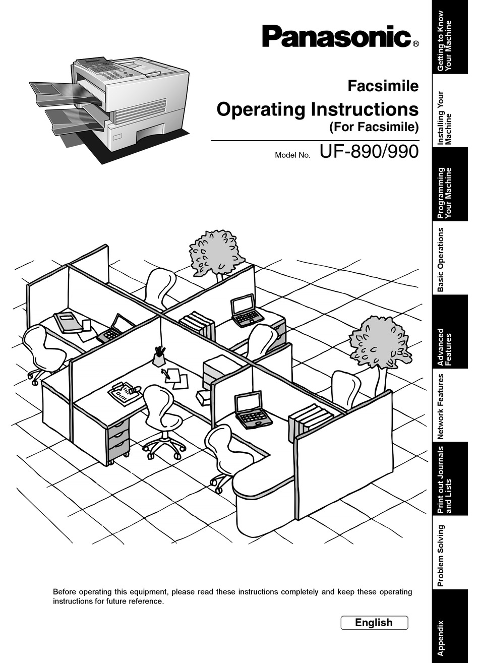 PANASONIC UF-890/990 OPERATING INSTRUCTIONS MANUAL Pdf