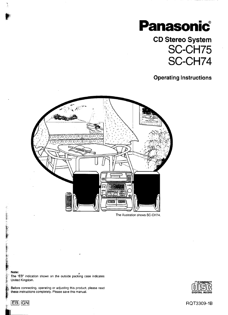 PANASONIC SC-CH74 OPERATING INSTRUCTIONS MANUAL Pdf