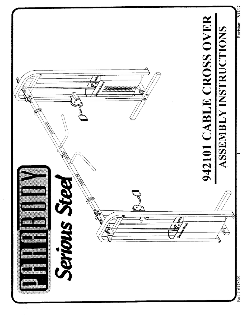 PARABODY 942101 ASSEMBLY INSTRUCTIONS MANUAL Pdf Download