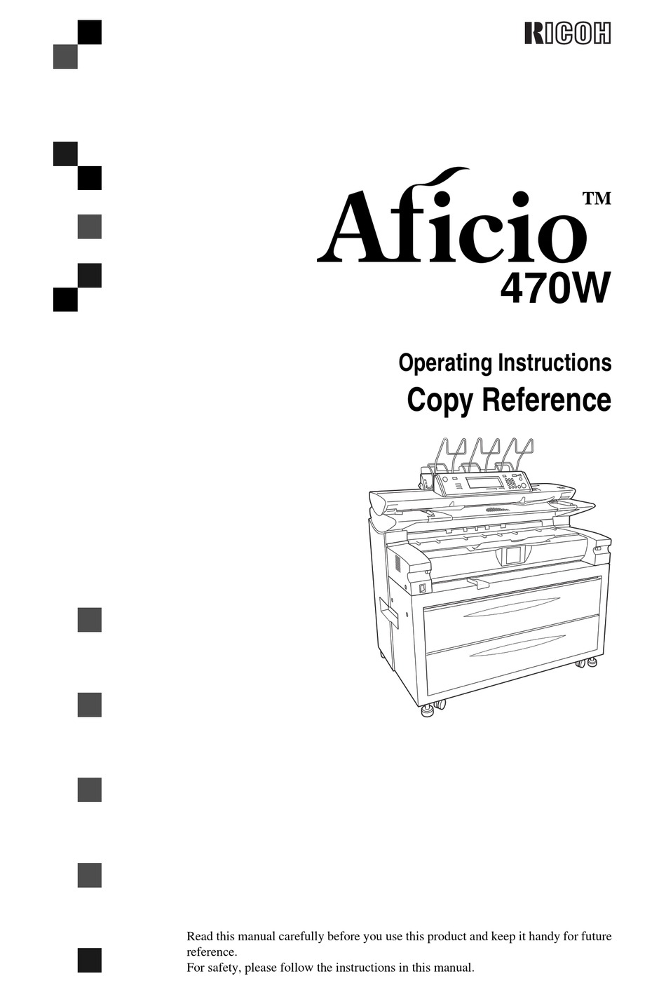 RICOH AFICIO 470W OPERATING INSTRUCTIONS MANUAL Pdf
