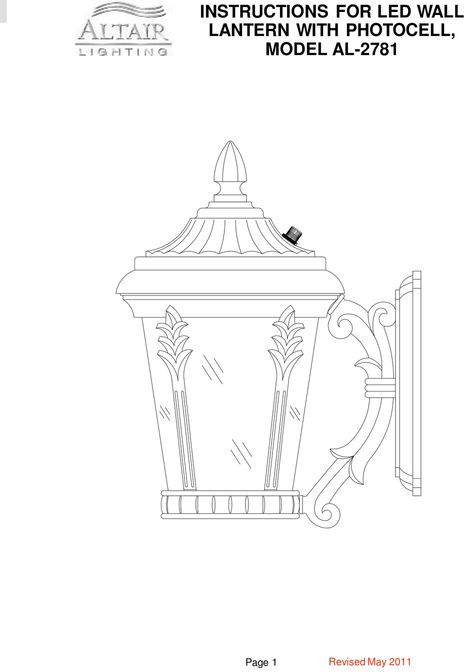 altair al 2781 instructions manual pdf